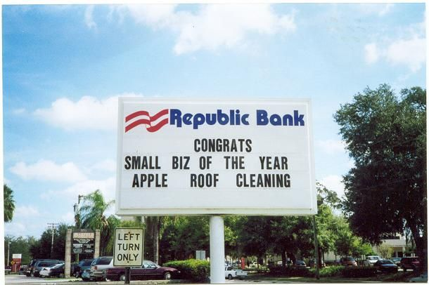 Chamber Of Commerce Roof Cleaning Business Of The Year Winner.